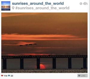 instagram feature sunrises around the world